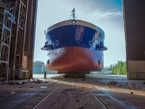 Новый самоходный сухогруз спустят на воду в Нижнем Новгороде