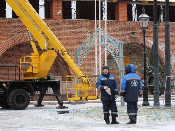 Нижегородский кремль начали украшать к Новому году - фото 4
