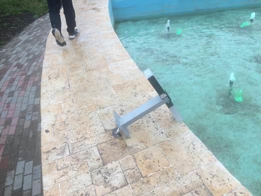 Вандалы нанесли урон реконструированному фонтану на улице Есенина - фото 1